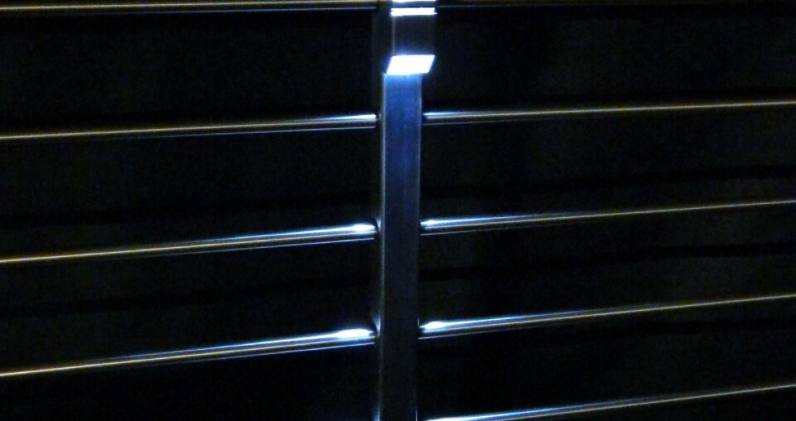 Night-shot-metal-post